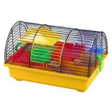 Cuşcă pentru hamster GRIM I - cu dotări din plastic