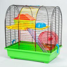 GRIM II cuşcă pentru hamster cu accesorii din plastic