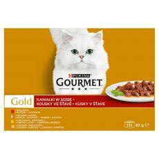 Tin Gourmet GOLD - chunkes in gravy, 12 x 85 g