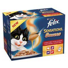 Felix Sensations Sauces - selecție delicioasă în sos, 12 x 100 g