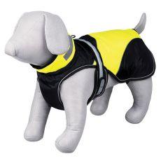 Haină Safety Flash negru cu galben cu lumină, pentru cățel, L 55cm