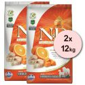 Farmina N&D dog GF PUMPKIN adult medium/maxi, codfish & orange – 2 x 12kg