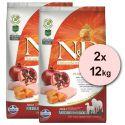 Farmina N&D GF PUMPKIN  adult dog medium/maxi, chiken & pomegranate - 2 x 12kg