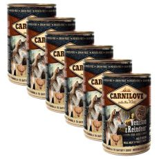 BRIT Carnilove Wild Meat Venison & Reindeer 6 x 400 g