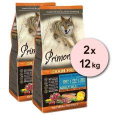Primordial GF ADULT - raţă şi păstrăv 2 x 12 kg