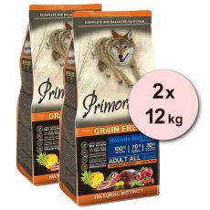 Primordial GF ADULT - miel şi peşte ton 2 x 12 kg