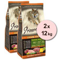 Primordial GF ADULT - cerb şi curcan 2 x 12 kg