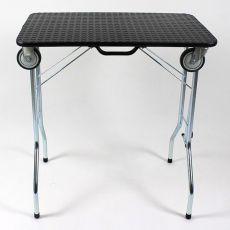 Masă pliantă pentru îngrijire, cu roți 90 x 55 x 85 cm, neagră
