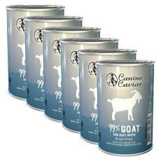 Conservă Canine Caviar GOAT Grain Free 6 x 375 g