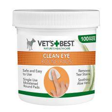 Dischete rotunde pentru curățarea ochilor VET´S BEST, 100 buc