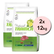 Trainer Natural Adult Maxi, vită și orez 2 x 12 kg