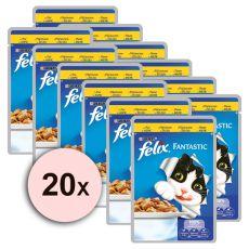 Hrană Felix  - carne de pui în aspic, 20 x 100 g