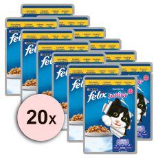 Felix Junior - carne de pui în jeleu, 20 x 100 g