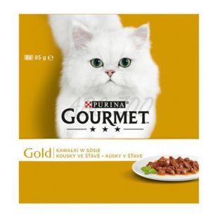 Conservă GOURMET GOLD - bucăți în sos, 8 x 85g