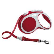 Lesă Flexi Vario M, pentru câini de până la 25kg, lungime coardă 5m - culoare roșie