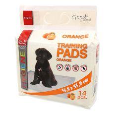 Dischete igienice și pentru antrenament pentru cățeluși 55 x 55 cm, portocalii - 14 buc