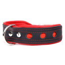 Zgardă reflectorizantă Neo, negru cu roșu 4 cm x 50 - 60 cm