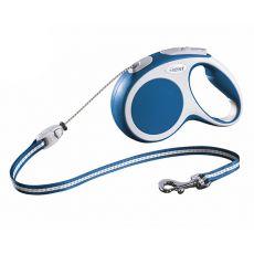 Lesă Flexi Vario S, pentru câini de până la 12 kg, lungime coardă 5 m - culoare albastră