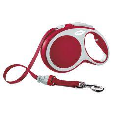 Lesă Flexi Vario L, pentru câini de până la 60kg, lungime coardă 5m - culoare roșie