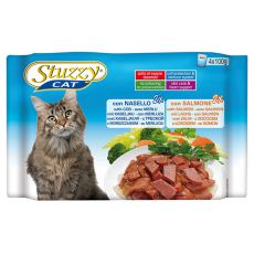 Stuzzy Cat pouches MULTIPACK cod + somon 4 x 100 g