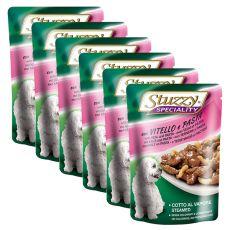 Stuzzy Speciality Dog - vițel cu paste, 6 x 100 g