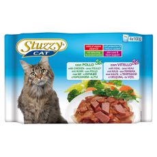 Stuzzy Stuzzy Cat MULTIPACK pui + miel 4 x 100 g