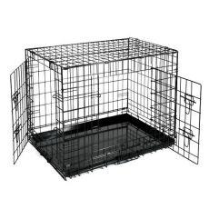 Cușcă pentru câini Black Lux - 2x uși, S - 61,5 x 42,5 x 50 cm