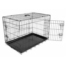 Cușcă pentru câini Black Lux - 2x uși, L - 91 x 59 x 65,5 cm