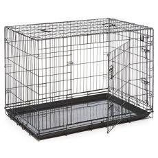 Cușcă pentru câini Black Lux - 2x uși, XXL - 125,8 x 74,5 x 80,5 cm