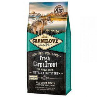 Brit CARNILOVE Carp proaspăt și păstrăv 12 kg