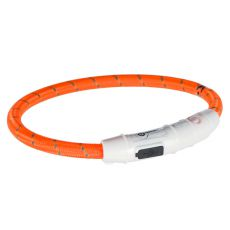 Zgardă LED M-L, portocalie 45 cm