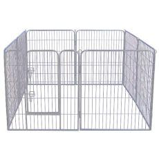 Cușcă mare Dog Park Grey Lux 8-hex, L - 80 x 80 cm