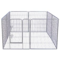 Cușcă mare Dog Park Grey Lux 8-hex, XL - 80 x 91 cm