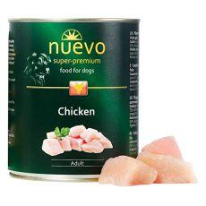 Conseră NUEVO DOG Adult Chicken 800 g