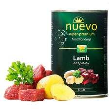 Conservă NUEVO DOG Adult Lamb & Potato 400 g