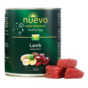 Conservă NUEVO DOG Adult Lamb & Potato 800 g