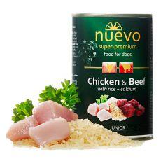 Conservă NUEVO DOG Junior Chicken & Beef 400 g