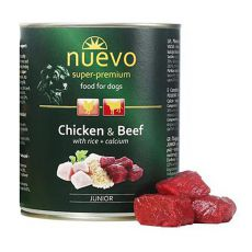 Conservă NUEVO DOG Junior Chicken & Beef 800 g