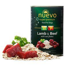 Conservă NUEVO DOG Senior Lamb & Beef 400 g
