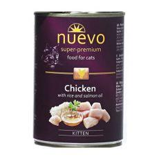 Conservă NUEVO CAT Kitten Chicken 400 g