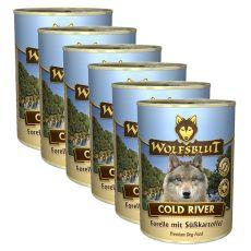 Conservă WOLFSBLUT Cold River, 6 x 395 g
