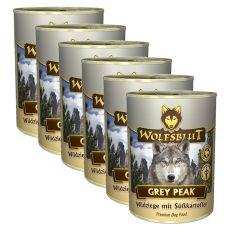 Tin WOLFSBLUT Grey Peak PURE, 6 x 395 g