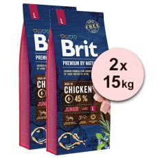 Brit Premium by Nature Junior Large 2 x 15 kg