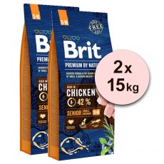 Brit Premium by Nature Senior Small și Medium 2 x 15 kg