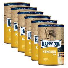 Happy Dog Pur - Kangaroo / cangur, 6 x 400g, 5+1 GRATUIT