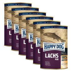 Happy Dog Pur - Lachs 6 x 375 g / somon, 5+1 GRATUIT