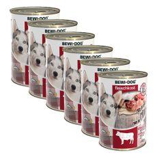 Conservă New BEWI DOG – carne de vită 6 x 400 g, 5+1 GRATIS