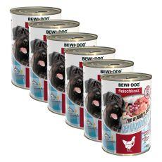 Conservă New BEWI DOG - Inimi de pasăre 6 x 400 g, 5+1 GRATIS