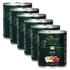 Conservă NUEVO DOG Adult Lamb & Potato Tin NUEVO DOG Adult Lamb & Potato 6 x 800 g, 5 + 1 GRATUIT