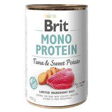 Consevă Brit Mono Protein Tuna & Sweet Potato, 400 g
